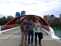 952 RCA Cadet Anderson showing friends around Calgary - photo - Karen Anderson