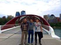 952 RCA Cadet Anderson showing friends around Calgary - photo - Karen Anderson